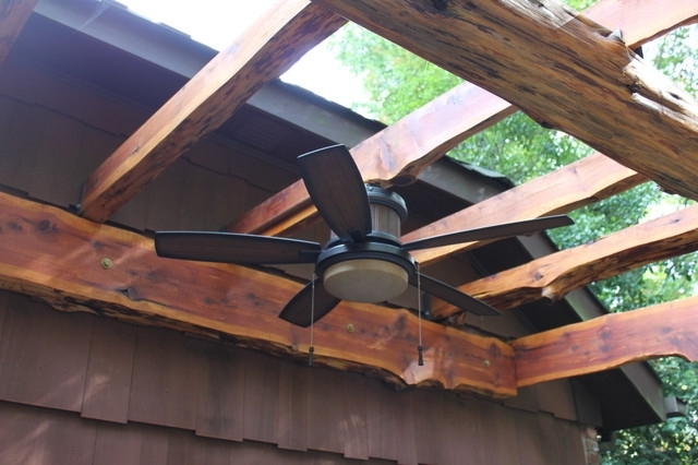 Most Recent Pergola Outdoor Fan – Traditional – Patio – New York Steve's Pertaining To Outdoor Ceiling Fans For Pergola (View 4 of 15)
