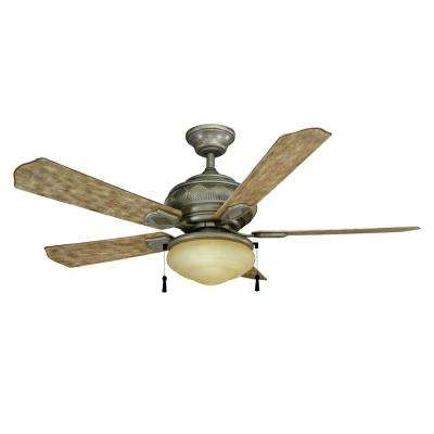 Most Recent Stainless Steel – Ceiling Fans – Lighting – The Home Depot For Stainless Steel Outdoor Ceiling Fans With Light (View 3 of 15)