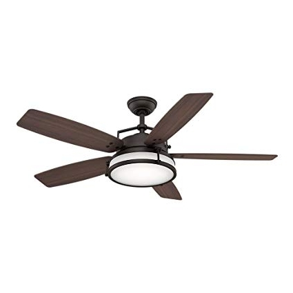 "Most Recently Released Casablanca Outdoor Ceiling Fans With Lights Throughout Casablanca 59114 Caneel Bay 56"" Outdoor Ceiling Fan With Light (View 11 of 15)"