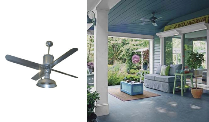 Most Recently Released Galvanized Metal Ceiling Fans Add Industrial Appearance (Gallery 4 of 15)