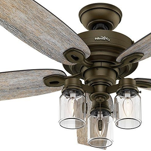 Most Recently Released Outdoor Ceiling Fans With Mason Jar Lights Pertaining To This Fan Brings Together A Variety Of Styles Such As Farmhouse (View 10 of 15)