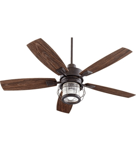 Most Recently Released Quorum 13525 44 Galveston 52 Inch Toasted Sienna With Walnut Blades Throughout 44 Inch Outdoor Ceiling Fans With Lights (View 10 of 15)