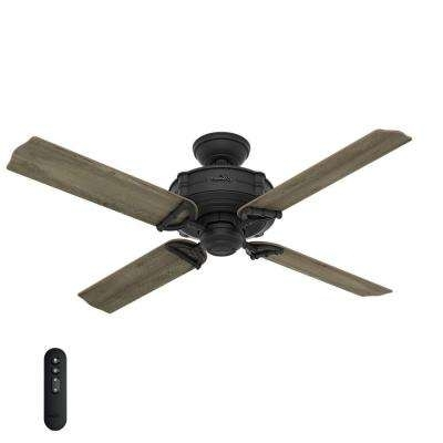 Most Up To Date Black – Hunter – Ceiling Fans – Lighting – The Home Depot Within Hunter Outdoor Ceiling Fans With Lights And Remote (View 12 of 15)