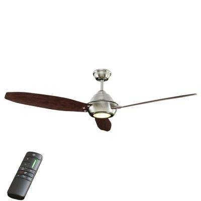 Most Up To Date Brushed Nickel Outdoor Ceiling Fans With Light Throughout 60 Or Greater – Nickel – Outdoor – Ceiling Fans – Lighting – The (View 14 of 15)