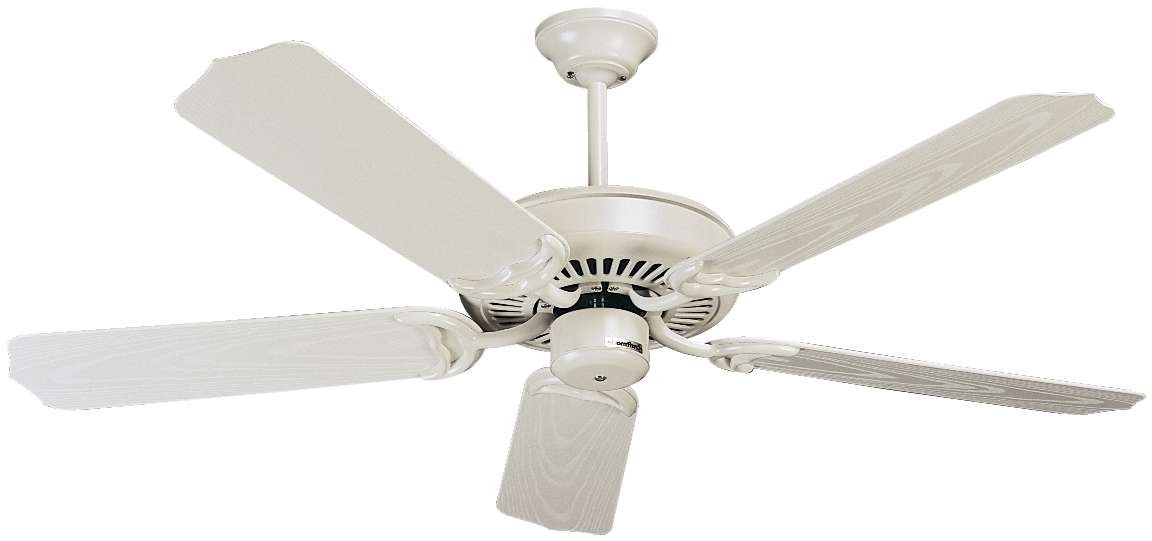 Most Up To Date Craftmade Outdoor Ceiling Fans Craftmade With Regard To Craftmade Porch Ceiling Fan Model Pf52Aw In Antique White (View 10 of 15)