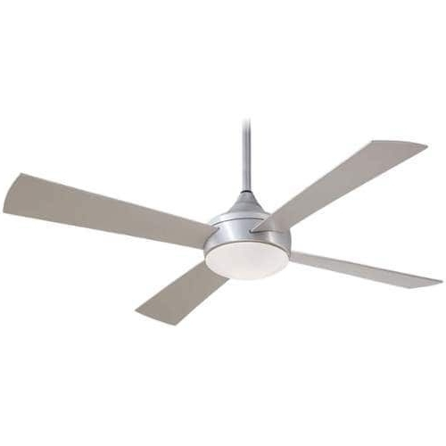 Most Up To Date Outdoor Ceiling Fans With Aluminum Blades Inside Minkaaire Aluma Wet 4 Blade 52 Indoor / Outdoor Ceiling Fan – Light (View 11 of 15)