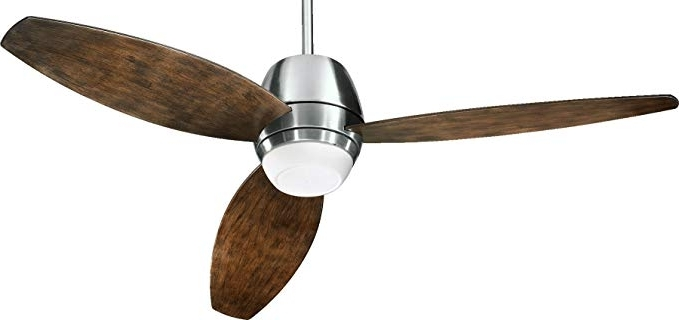 "Most Up To Date Quorum Outdoor Ceiling Fans Inside Quorum 142523 65, Bronx Patio Satin Nickel 52"" Outdoor Ceiling Fan (View 11 of 15)"