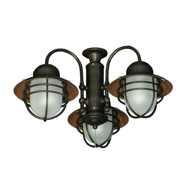Nautical Outdoor Ceiling Fans Intended For Preferred 362 Nautical Styled Outdoor Ceiling Fan Light Kit – 3 Finish Choices (View 11 of 15)