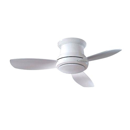 Newest 36 Inch Outdoor Ceiling Fan Concept Ii White Inch Flush Led Ceiling With Regard To 36 Inch Outdoor Ceiling Fans With Lights (View 12 of 15)