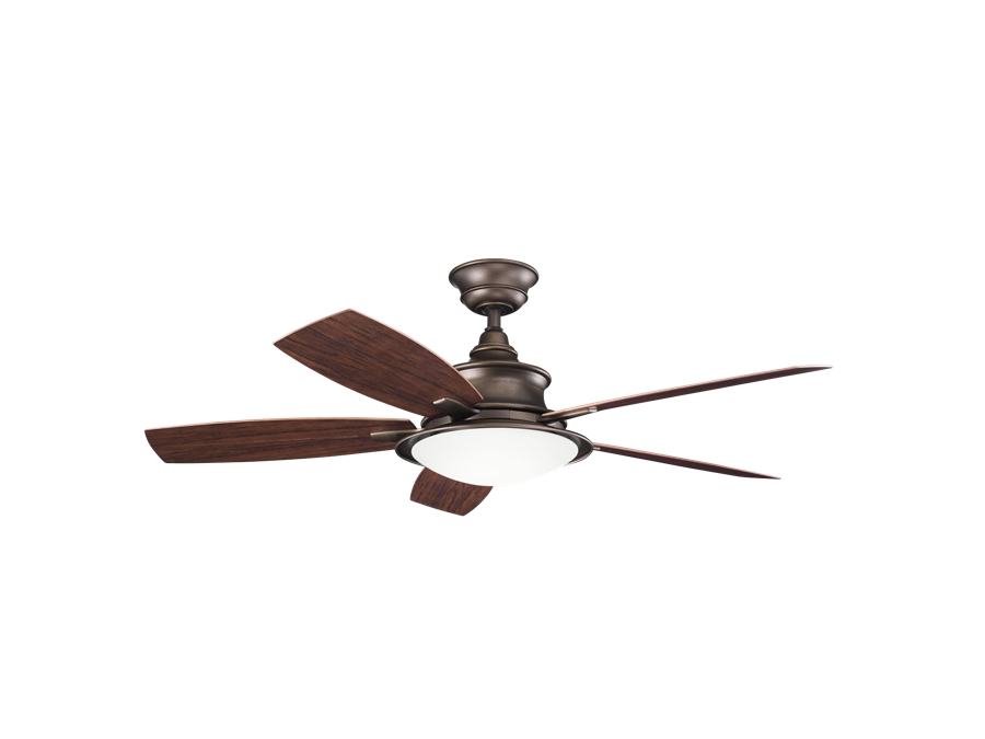 Newest Copper Outdoor Ceiling Fans In Kichler 52 Inch Cameron Outdoor Ceiling Fan – Weathered Copper (Gallery 7 of 15)