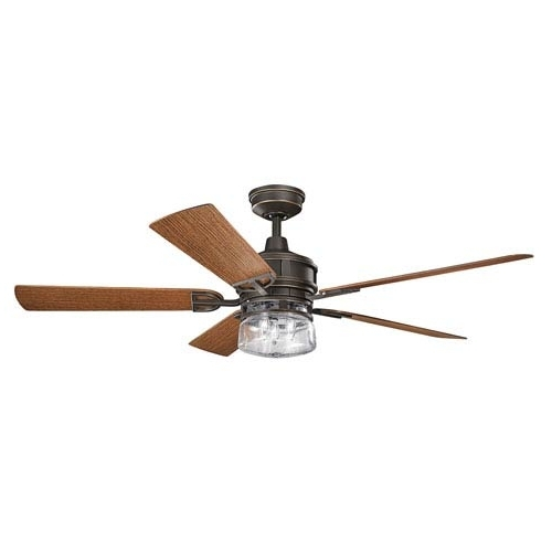 Newest Kichler Lyndon Patio Olde Bronze 60 Inch Outdoor Ceiling Fan With Within 60 Inch Outdoor Ceiling Fans With Lights (View 14 of 15)