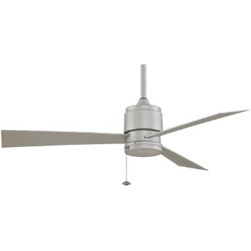 Nickel Outdoor Ceiling Fans For Well Known Buy Fanimation Zonix 52 Inch Outdoor Ceiling Fan – Satin Nickel In (View 8 of 15)