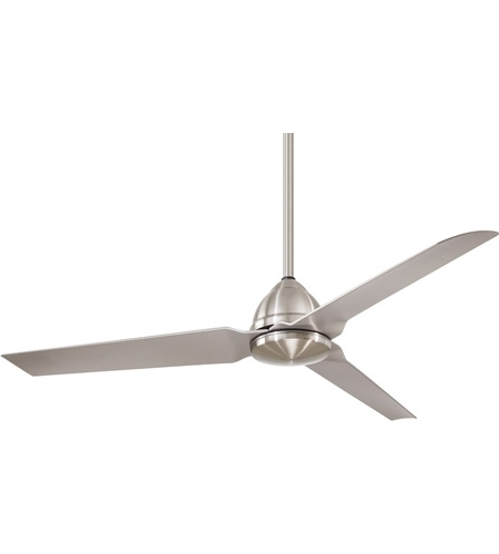 Nickel Outdoor Ceiling Fans Throughout Favorite Java 54 Inch Brushed Nickel Wet With Silver Blades Outdoor Ceiling Fan (View 13 of 15)