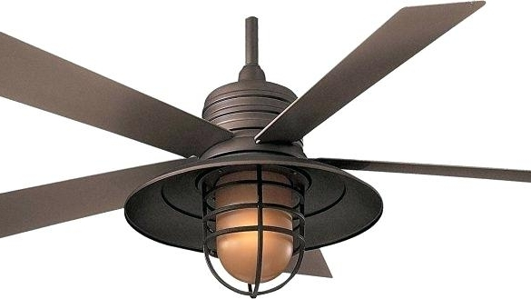 Oil Rubbed Bronze Ceiling Fan With Light Outdoor Ceiling Fan Light With Regard To Well Known Metal Outdoor Ceiling Fans With Light (Gallery 2 of 15)