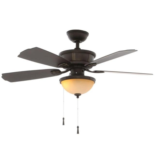 Oil Rubbed Bronze Outdoor Ceiling Fans With Most Recently Released Hampton Bay Umber 46 In (View 9 of 15)