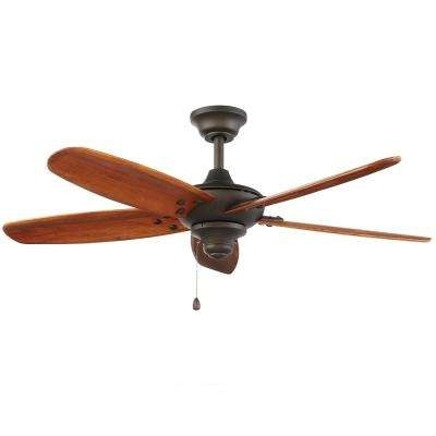 Oil Rubbed Bronze Outdoor Ceiling Fans Within Widely Used Outdoor – Ceiling Fans – Lighting – The Home Depot (View 7 of 15)