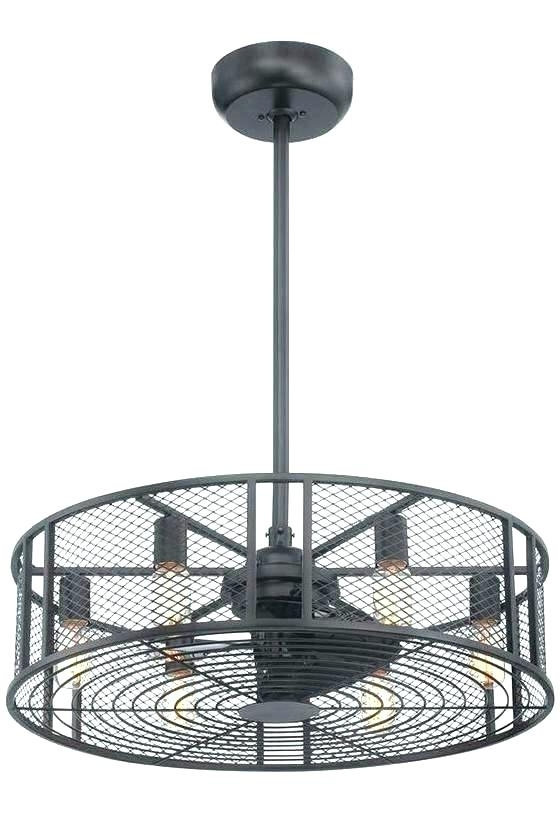 Outdoor Caged Ceiling Fans With Light With Famous Caged Ceiling Fan Best Drum Ceiling Fans Flush Mount Ceiling Fan (View 6 of 15)