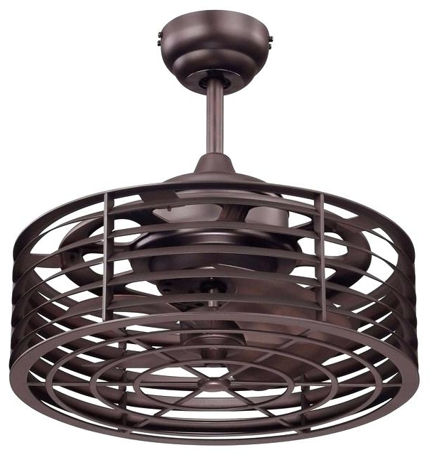 Outdoor Caged Ceiling Fans With Light With Regard To 2018 Caged Ceiling Fan Outdoor With Light Flush Mount (View 9 of 15)