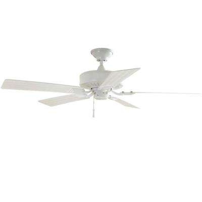 Outdoor Ceiling Fan No Electricity Regarding Well Liked White – Outdoor – Ceiling Fans – Lighting – The Home Depot (View 10 of 15)