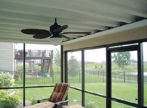 Outdoor Ceiling Fan Under Deck For Best And Newest Double Your Clients' Outdoor Living Spacekeeping The Area Below (View 7 of 15)
