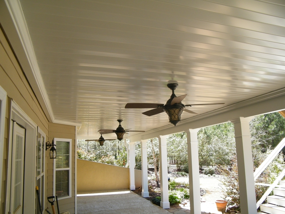 Outdoor Ceiling Fan Under Deck Intended For Famous Dry Underdeck Systems — Cornerstone Construction & Renovation, Inc (View 10 of 15)