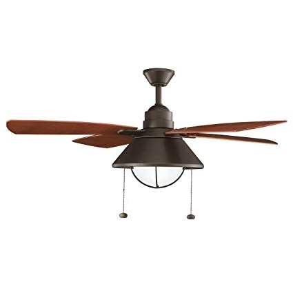 "Outdoor Ceiling Fans At Kichler Inside 2018 Kichler 310131oz 54"" Ceiling Fan – Close To Ceiling Light Fixtures (View 17 of 22)"