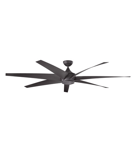 Outdoor Ceiling Fans At Kichler Pertaining To Best And Newest Kichler 310115dbk Lehr 80 Inch Distressed Black Outdoor Ceiling Fan (View 2 of 22)