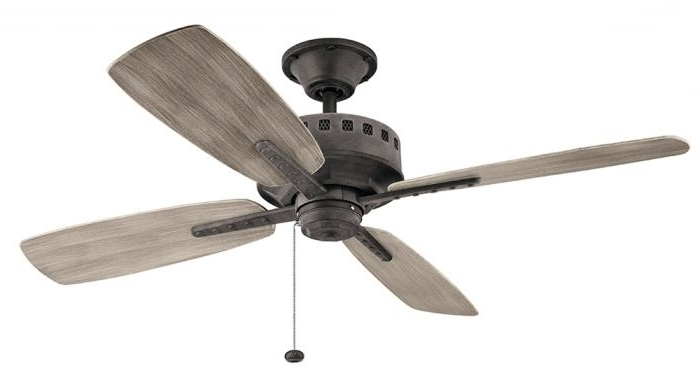 Outdoor Ceiling Fans At Kichler Regarding Best And Newest Outdoor Ceiling Fan, Kichl 310152 Wzc Kichler Lighting Group (View 21 of 22)