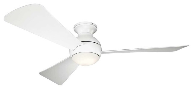 Outdoor Ceiling Fans At Kichler With Regard To Most Up To Date Kichler 330152 Sola Outdoor Ceiling Fan With Light, (View 22 of 22)
