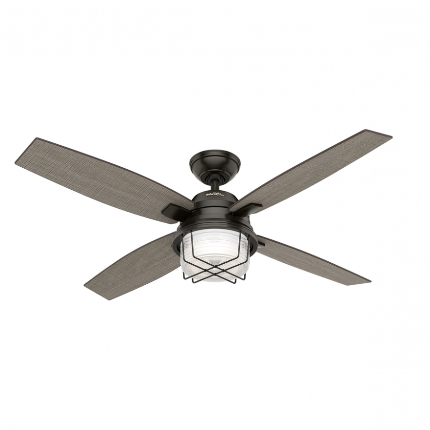 Outdoor Ceiling Fans At Lowes Intended For 2018 Fans: Shop Hunter Ivy Creek 52 In Noble Bronze Indoor/outdoor (Gallery 5 of 15)