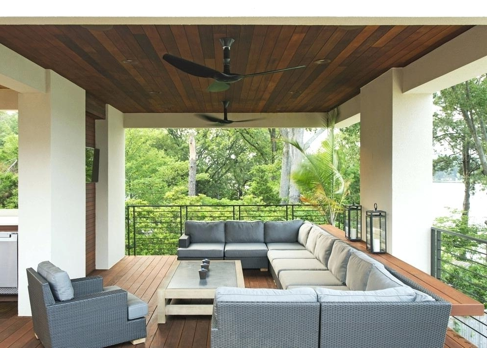 Outdoor Ceiling Fans For Decks Throughout Trendy Outdoor Deck Ceiling Lights Architecture Lighting Led Outdoor (Gallery 4 of 15)