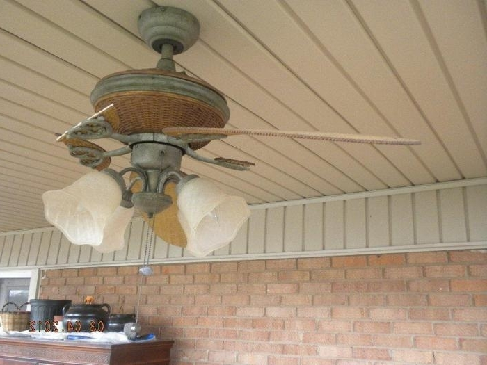Outdoor Ceiling Fans For High Wind Areas Intended For Most Recent Broken Blades (Gallery 3 of 15)