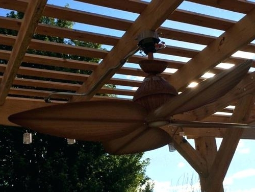 Outdoor Ceiling Fans For Pergola Intended For 2017 Waterproof Ceiling Fan Need Help Mounting Our New Outdoor Ceiling (View 9 of 15)