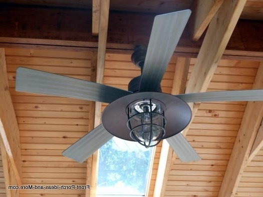 Outdoor Ceiling Fans For Porches Inside Most Up To Date Pretty Outdoor Ceiling Fan Porch Fan Contemporary Ceiling Fan Relish (Gallery 5 of 15)