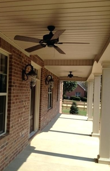 Outdoor Ceiling Fans For Porches Intended For Most Current Exterior Ceiling Fans Exterior Ceiling Fans Porch Ceiling Fans (View 10 of 15)