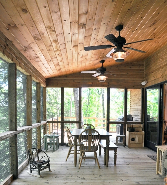 Outdoor Ceiling Fans For Screened Porches Throughout 2017 Porch (View 15 of 15)