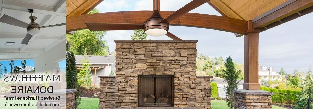 Outdoor Ceiling Fans – Shop Wet, Dry, And Damp Rated Outdoor Fans Regarding Well Known Outdoor Ceiling Fans For High Wind Areas (Gallery 5 of 15)