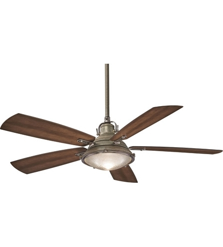 Outdoor Ceiling Fans With Aluminum Blades With Regard To Preferred Minka Aire F681 Wa/pw Groton 56 Inch Weathered Aluminum With Dark (View 5 of 15)