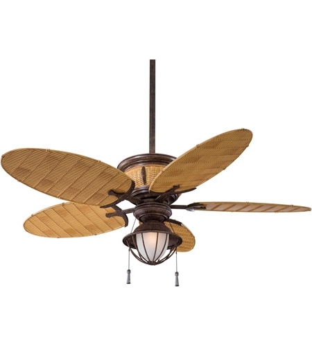 Outdoor Ceiling Fans With Bamboo Blades In Widely Used Shangri La 52 Inch Vintage Rust With Bamboo Blades Outdoor Ceiling Fan (Gallery 10 of 15)
