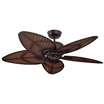 "Outdoor Ceiling Fans With Hook Intended For Most Up To Date Emerson Cf135Dbz Callito Cove 52"" Indoor Outdoor Ceiling Fan, Bronze (Gallery 11 of 15)"