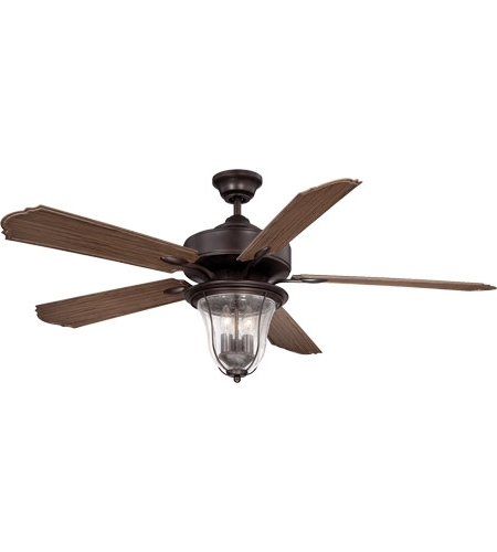 Outdoor Ceiling Fans With Hook With Preferred Savoy House 52 135 5Wa 13 Trudy 52 Inch English Bronze With Walnut (View 11 of 15)