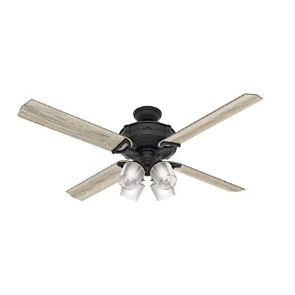 Outdoor Ceiling Fans With Led Globe For Most Recent Hunter 54179 Hunter Brunswick Four Wifi Ceiling Fan With Light With (View 10 of 15)