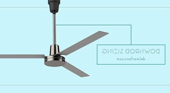 Outdoor Ceiling Fans With Long Downrod Intended For Favorite Ceiling Fan Downrod Length & Extension Rod Selection Guide & Height (Gallery 2 of 15)
