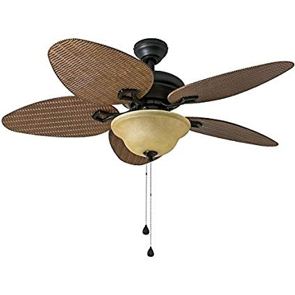 Outdoor Ceiling Fans With Long Downrod Regarding Famous Bridgeford 44 In Aged Bronze Downrod Or Close Mount Indoor/outdoor (Gallery 3 of 15)