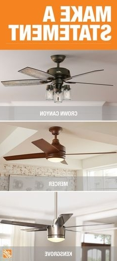Outdoor Ceiling Fans With Mason Jar Lights Pertaining To Fashionable 8 Modern Rustic Ceiling Fans For Under $ (View 11 of 15)