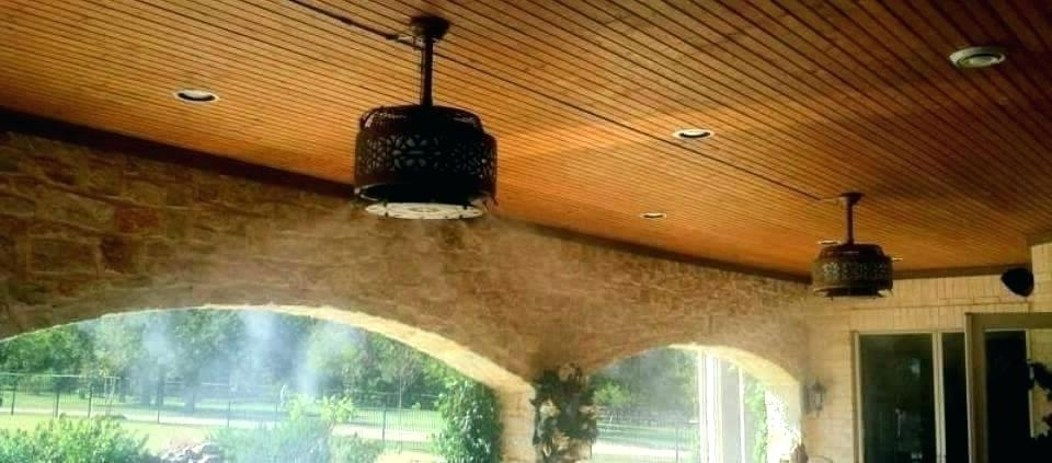 Outdoor Ceiling Fans With Misters With Regard To Most Popular Outdoor Ceiling Fans With Misters – Verged (View 11 of 15)
