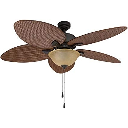 Outdoor Ceiling Fans With Palm Blades In Most Current Prominence Home 80014 01 Palm Valley Tropical Ceiling Fan With Palm (View 9 of 15)