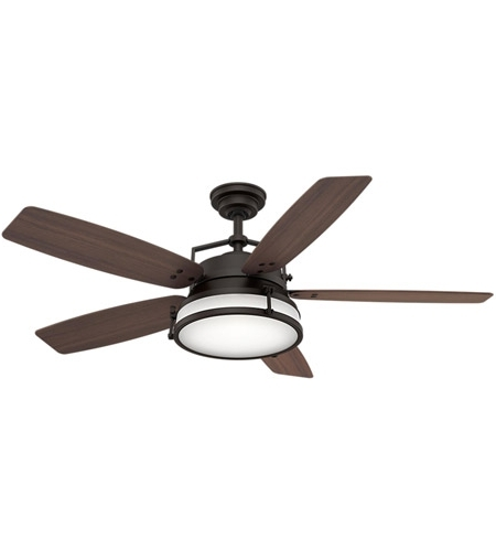 Outdoor Ceiling Fans With Plastic Blades For Well Liked Casablanca 59360 Caneel Bay 56 Inch Maiden Bronze With Reversible (Gallery 7 of 15)