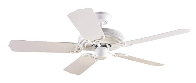 Outdoor Ceiling Fans With Plastic Blades In Most Up To Date Hunter 23566 Sea Air 52 Inch 5 White Plastic Blades Ceiling Fan (View 2 of 15)