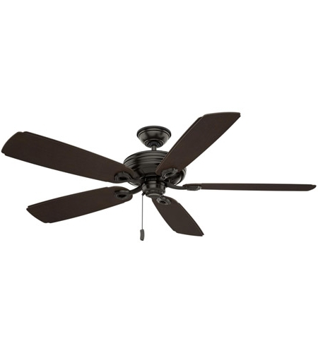 Outdoor Ceiling Fans With Plastic Blades Intended For Widely Used Casablanca 55074 Charthouse 60 Inch Noble Bronze With Reversible (Gallery 11 of 15)